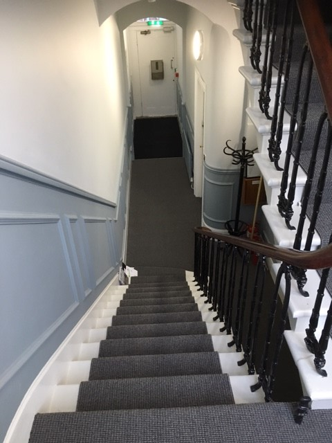 Refurbished staircase in residential building