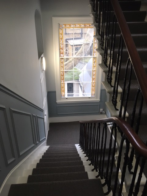 Kensington residential refurbishment of shared staircase