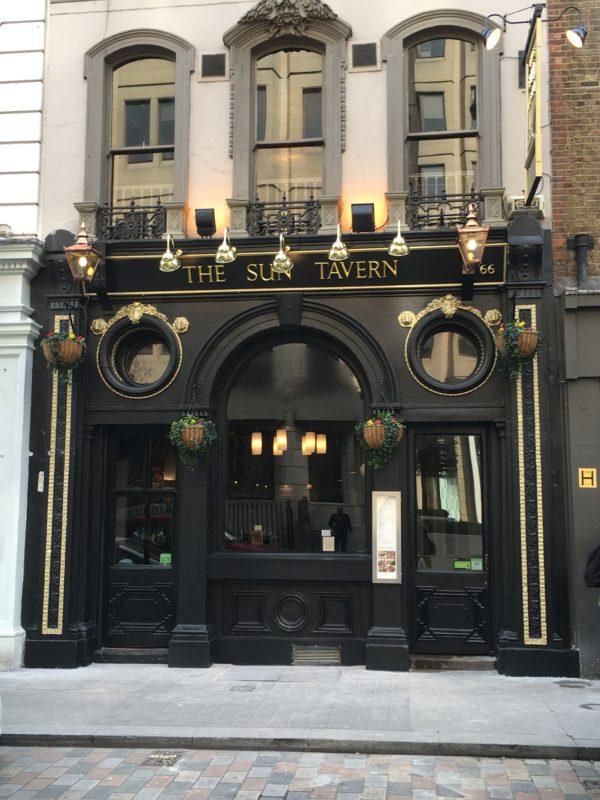 The Sun Tavern refurbished exterior entrance