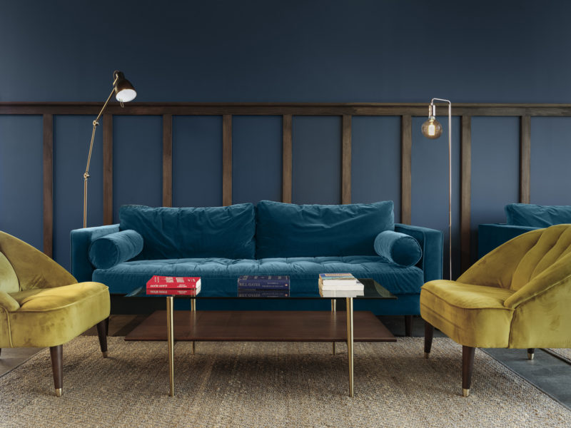 Plush sofas in newly refurbished London office