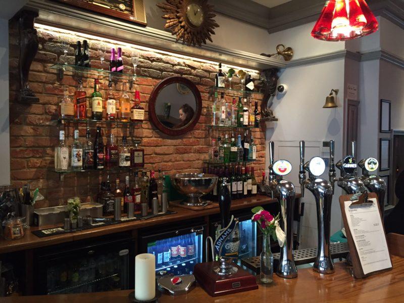 Behind the bar at refurbished London pub