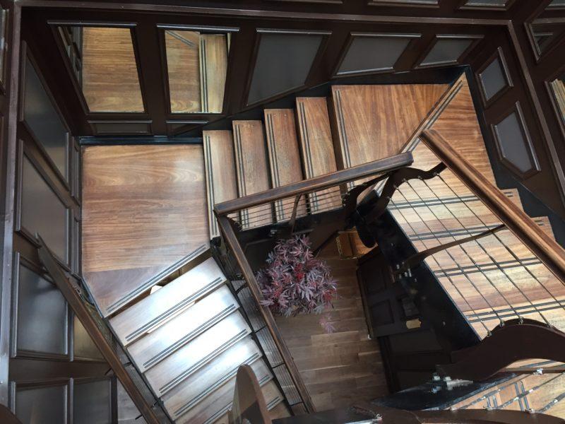 Beautiful wood staircase